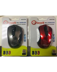 Mouse Inalambrico USB ETOUCH M397RG 2.4GHZ hasta 10 Metros Baterias Incluidas