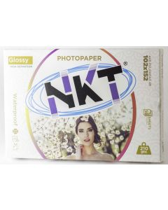 "Papel Foto Glossy NKT 4X6"" 50 Hojas 210GM"