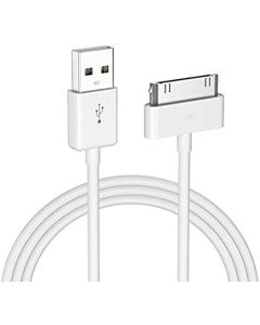 Cable Generico para Iphone 4/3GS o Ipod 30 Pines Color Blanco