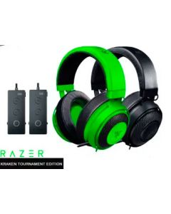 Audifonos Multiplataforma GAMING RAZER KRAKEN Tournament Edition RZ04-02051000-R3U1 ,para PC Gaming/PS4/Xbox One/Nintendo Switch/Smartphone con Audio Espacial THX 360°, con Cable y Controlador de Audio USB