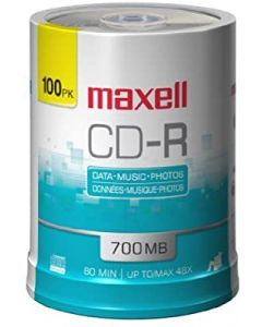 Torre 100 CD-R Maxell Spindle con logo