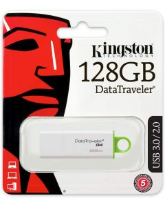 Memoria USB 2.0/3.0/3.1 128GB Kingston DTIG4 Blanco-Verde con Tapa