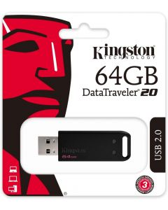 Memoria USB 2.0 64GB Kingston DT20 Color Negro