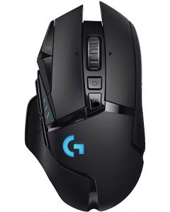 Mouse Inalámbrico RGB USB GAMING LOGITECH G502 LIGHTSPEED 910-005565 con Sensor HERO 16K y POWERPLAY Negro, Recargable