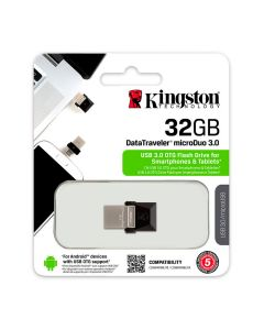 MEMORIA USB KINGSTON DTDUO3/32GB USB 3.0 OTG MICRO DUO (CONEXIÓN MICRO USB PARA SMARTPHONE/TABLET)
