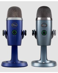 Microfono USB PREMIUM  BLUE YETI NANO 988-000089, Ideal para Youtube,Twitch,Skype y uso general en el trabajo o Streamers,Calidad de Sonido de 24 Bits, Plug and Play, para PC o Mac,Salida de Auriculares sin latencia y control de volumen