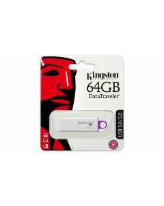 Memoria USB 2.0/3.0/3.1 64GB Kingston DTIG4 Blanco-Morado con Tapa DTIG4/64GB