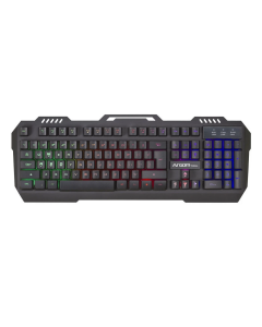 Teclado GAMING ARGOM ARG-KB-2056BK COMBAT KB56 USB Multimedia Negro con Robusta Estructura Metalica, Luminoso de Varios Colores, Cable 1.5m,19 Teclas Anti-ghost