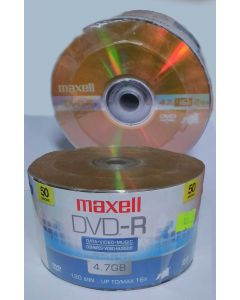 Torre 50 DVD-R Maxell con logo Spindle