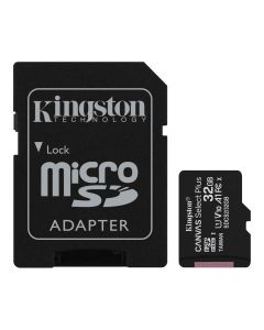 Memoria CANVAS Select PLUS Micro SD 32GB Kingston Clase 10 100MB/s 1 Adap