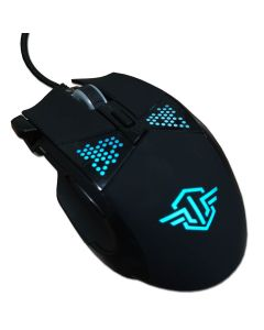 Mouse USB Gaming ETOUCH MO817G APEX Negro Luz 7 Colores 7 Botones Dpi Ajustable 3200 maximo Alta Precision Cable 1.5mts