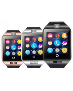 Smartwatch Q18 Cuadrado Soporta Chip,MP3,Bluetooth,FM,Microfono,Camara 0.3MP,128MB Exp.32GB